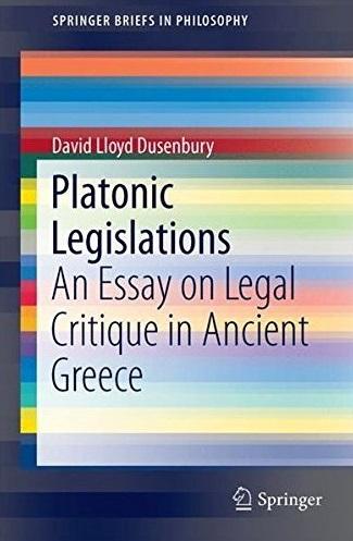 Platonic Legislations Cover