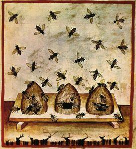 14th c. Alimenti miele, Taccuino Sanitatis, Casanatense 4182.