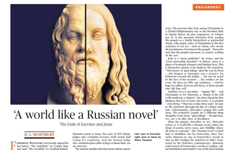 TLS page. Detail. A world like a Russian novel