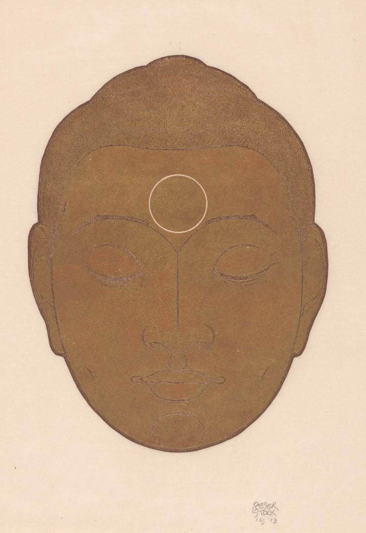 Hoofd van Boeddha, Reijer Stolk, 1943